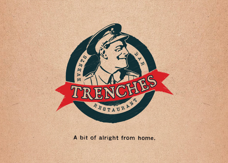 Logo design in Christchurch for Trenches Restaurant