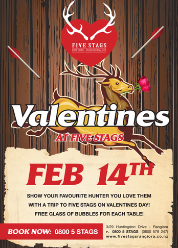Five Stags Valentines 2015