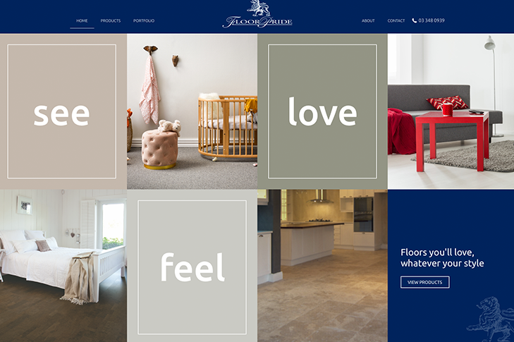 website design for floor pride in christchurch