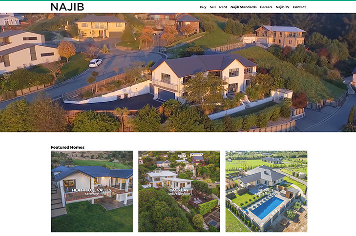 website design for najib real estate
