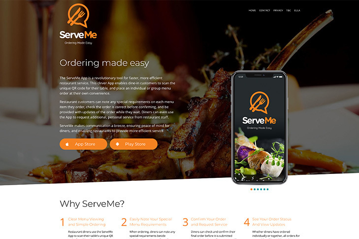 web design for serve me Christchurch