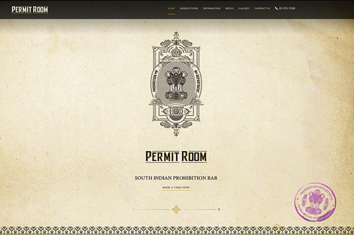 Website design for Permit Room Christchurch